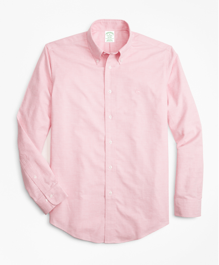 Camisa-Sport-Heathered-Oxford-Non-Iron-Milano-Fit-Rosada