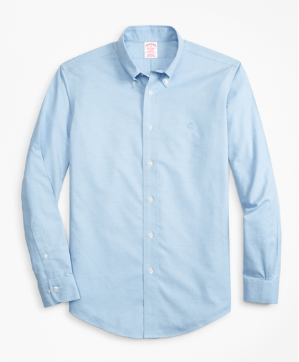 Camisa-Sport-Heathered-Oxford-Non-Iron-Madison-Fit-Azul
