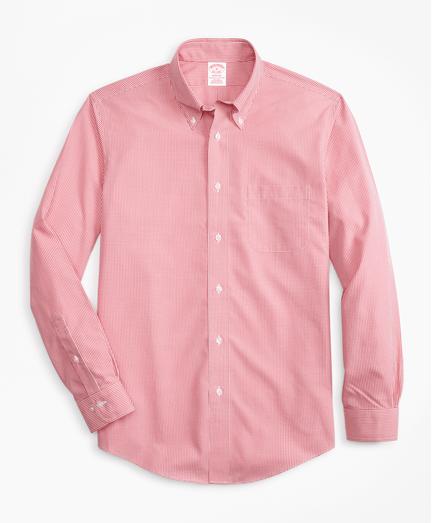 Camisa-Sport-Non-Iron-Madison-Fit-de-Cuadros-Micro-Rojo-Obscuro