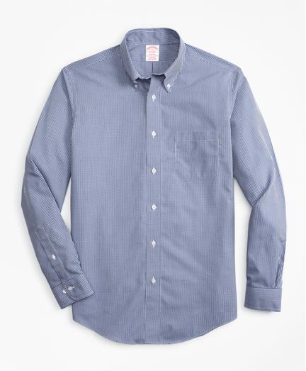 Camisa-Sport-Non-Iron-Madison-Fit-de-Cuadros-Micro-Azul-Obscuro