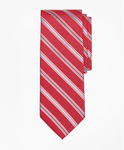 Corbata-de-Rayas-bicolor-Roja