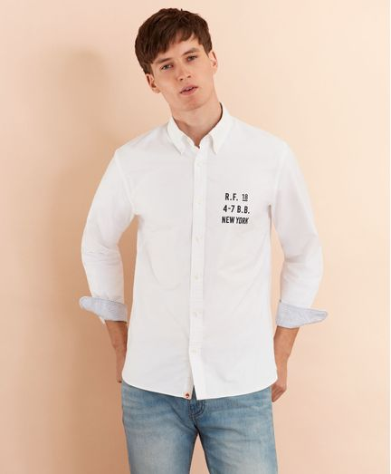 Camisa-Sport-Oxford-con-Logo-Brooks-Brothers