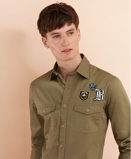 Camisa-Sport-con-parche-Brooks-Brothers