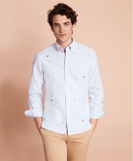 Camisa-Sport-Oxford-bordada-Brooks-Brothers