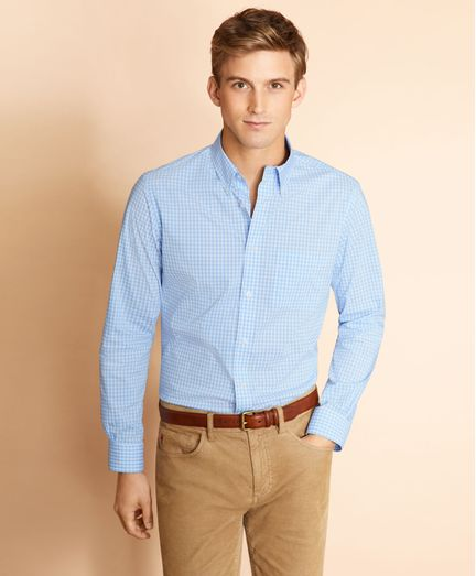Camisa-de-Popelina-Gingham-Performance-Series-Brooks-Brothers