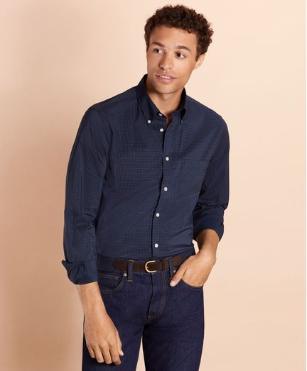 Camisa-de-Popelina-Dotted-Performance-Series-Brooks-Brothers