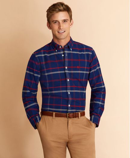 Camisa-Oxford-de-Algodon-a-Cuadros-Brooks-Brothers