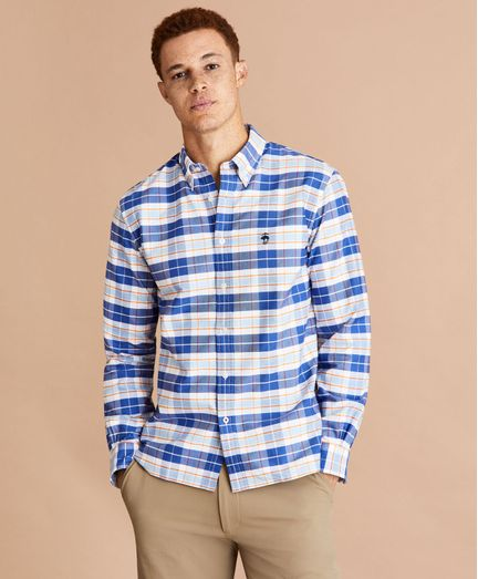 Camisa-Oxford-De-Algodon-A-Cuadros-Multiples-Brooks-Brothers