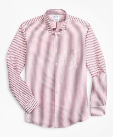 Camisa-Sport-Non-Iron-Regent-Fit-De-Rayas-Con-Logo-Brooks-Brothers