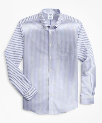 Camisa-Sport-Non-Iron-Regent-Fit-De-Rayas-Con-Logo-Brooks-Brothers