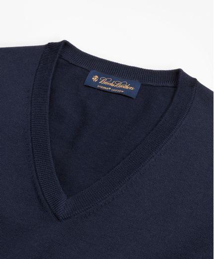 Sueter-Cuello-En-V-Con-Logo-De-Algodon-Supima-Brooks-Brothers