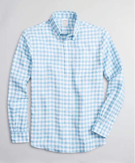 Camisa-Sport-de-Lino-Irlandes-Gingham-Regent-Fit-Brooks-Brothers