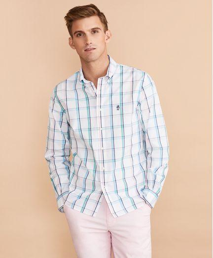 Camisa-Oxford-Windowpane-Brooks-Brothers