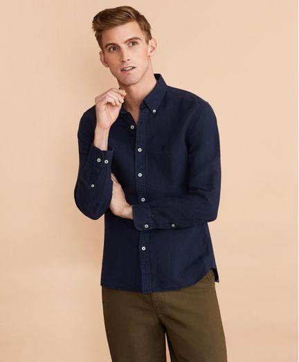 Camisa-de-Lino-y-Algodon-Teñido-Brooks-Brothers