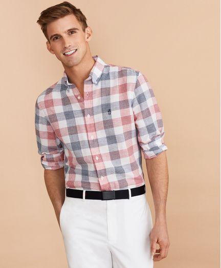 Camisa-de-Popelina-de-Algodon-y-Lino-a-Cuadros-Brooks-Brothers