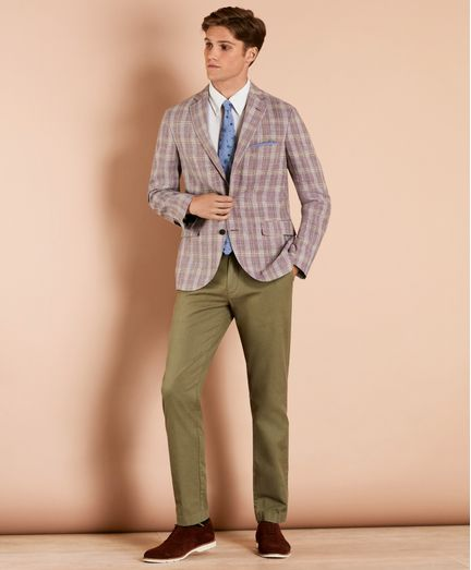 Pantalon-Chino-Stretch-de-Algodon-y-Lino-Teñido-Brooks-Brothers