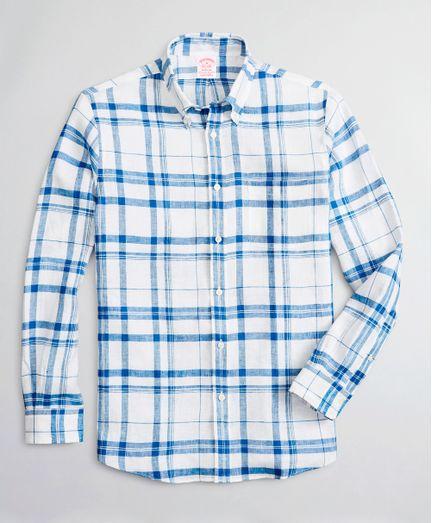 Camisa-Sport-de-Lino-Irlandes-Tartan-Madison-Classic-Fit-Brooks-Brothers