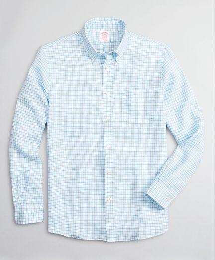 Camisa-Sport-de-Lino-Irlandes-Windowpane-Madison-Classic-Fit-Brooks-Brothers