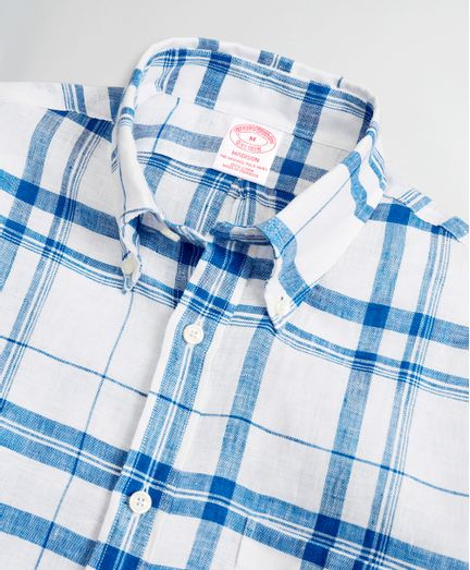 Camisa-Sport-de-Lino-Irlandes-Tartan-Madison-Classic-Fit-Brooks-Brothers