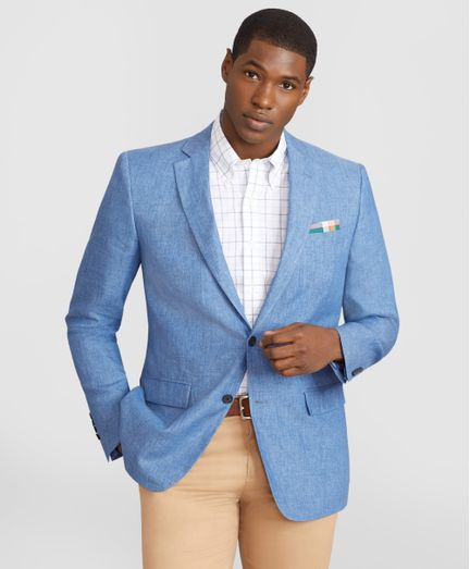 Blazer-de-Lino-Regent--Fitted--Brooks-Brothers