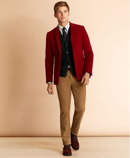 Pantalon-Casual-Red-Fleece-Regular-Fit-Brooks-Brothers