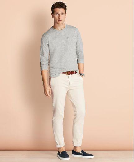 Pantalon-Casual-Red-Fleece-Slim-Fit-Brooks-Brothers