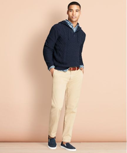 Pantalon-Casual-Red-Fleece-Slim-Fit-Brooks-Brothers