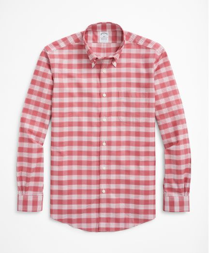 Camisa-Sport-Oxford-de-Cuadros-Non-Iron-Algodon-Regent--Fitted--Brooks-Brothers
